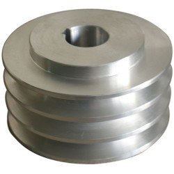 POLEA MOTOR ALUMINIO TRES CANALES TRES CANALES EXT 70 mm EJE 24 mm