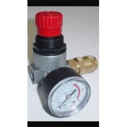 """regulador de presion compresor con reloj 1/4"""""""