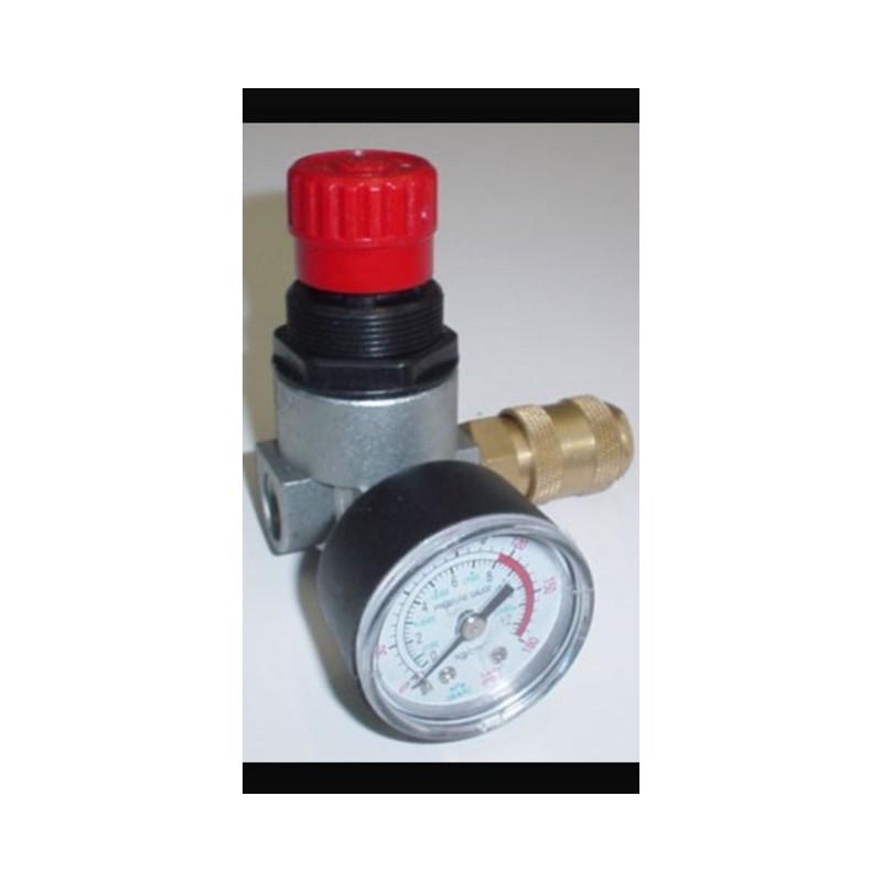 Regulador de presion compresor 1 4 con reloj - Regulador de presion ...
