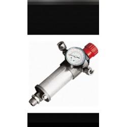 """regulador de presion compresor 3/8"""" con reloj manometro y dos salidas"""